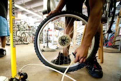 bike tire and pump
